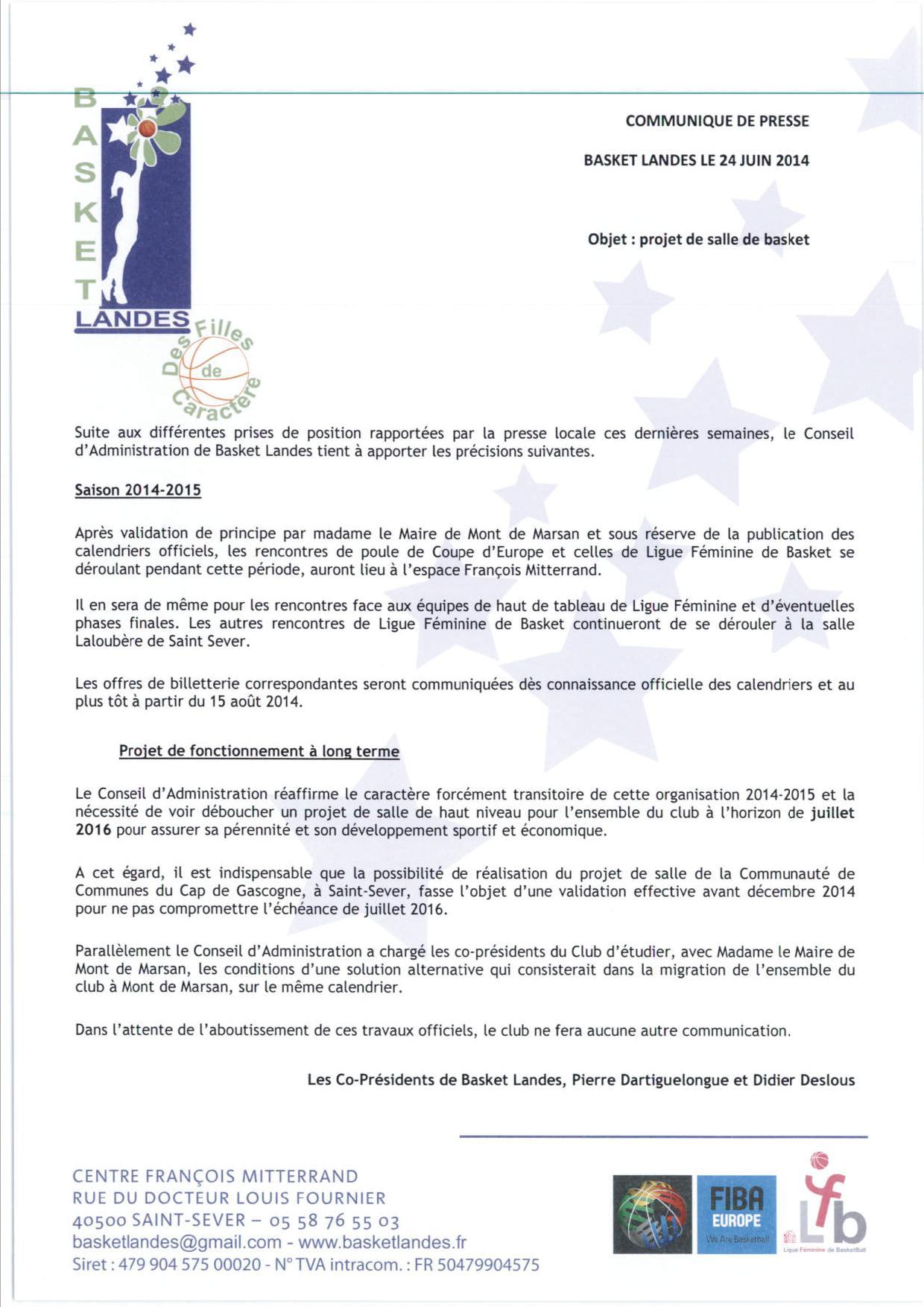 Communiqué Basket Landes_20140624_171121