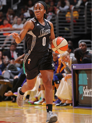 WNBA_2013-2014_Davellyn WHITE (San Antonio)_Getty Images