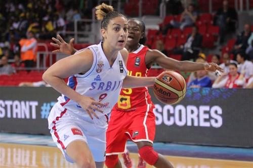 Mondial 2014_Jelena MILOVANOVIC (Serbie) vs. Angola_FIBA