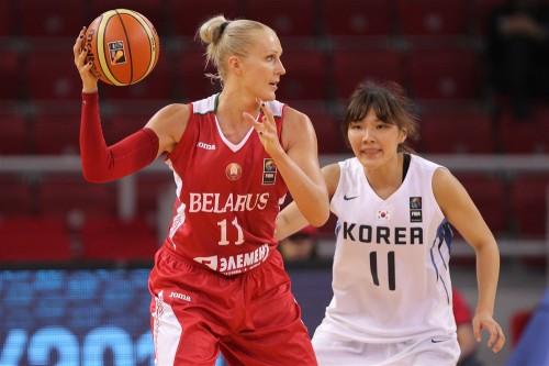 Mondial 2014_Yelena LEUCHANKA (Biélorussie) vs. Corée du Sud_FIBA