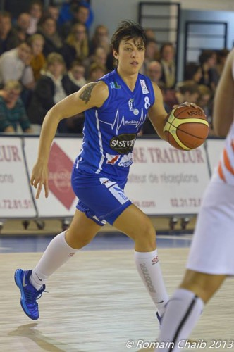 LFB_2013-2014_Anaïs LE GLUHER-CANO (Basket Landes)_Romain CHAIB