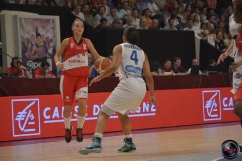 LFB_2014-2015_Virginie BREMONT 1 (Villeneuve d'Ascq) vs. Basket Landes_Laury MAHE