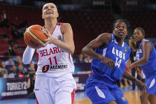 Mondial 2014_Yelena LEUCHANKA (Biélorussie) vs. Cuba_FIBA