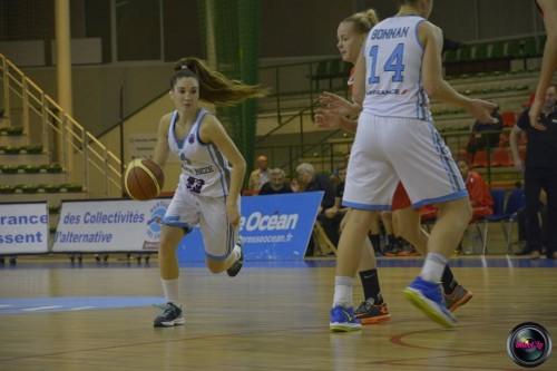 Eurocoupe_2014-2015_Aline DUMONT (Nantes-Rezé) vs. Young Cats_Laury MAHE