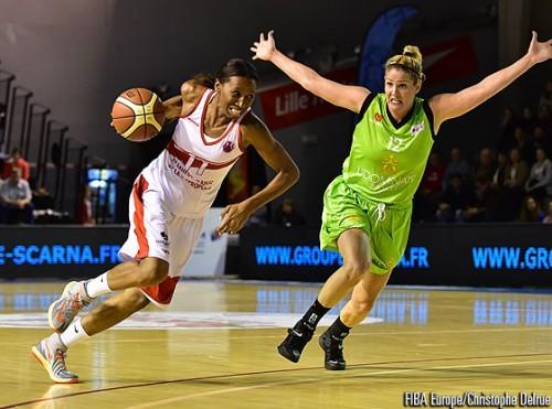 Eurocoupe_2014-2015_Géraldine ROBERT (Villeneuve) vs. Udominate)_FIBA Europe_Christophe DELRUE