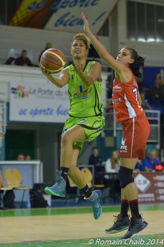 LFB_2014-2015_Florine BASQUE (Hainaut Basket) vs. Mondeville_Romain CHAIB