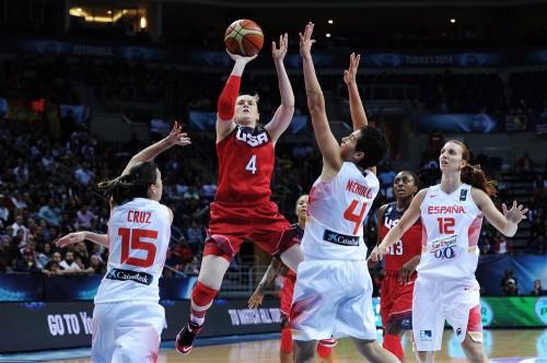 Mondial 2014_Lindsay WHALEN (Etats-Unis) vs. Espagne_FIBA