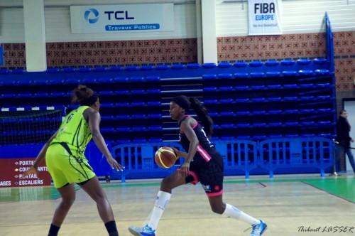 LFB_2014-2015_Marie MANE (Toulouse) vs. Hainaut Basket_Thibaut LASSER
