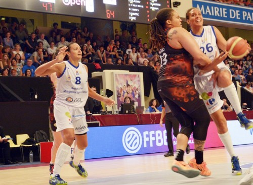 LFB_2014-2015_Mistie BASS (Montpellier) vs. Bourges_Laury MAHE