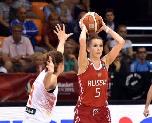 Euro 2015 Evgenia BELYAKOVA FIBA Ciamillo Castoria Rebay