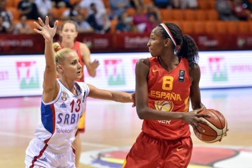Euro 2015_Astou NDOUR (Espagne) vs. Serbie_FIBA_CIAMILLO-CASTORIA_REBAY