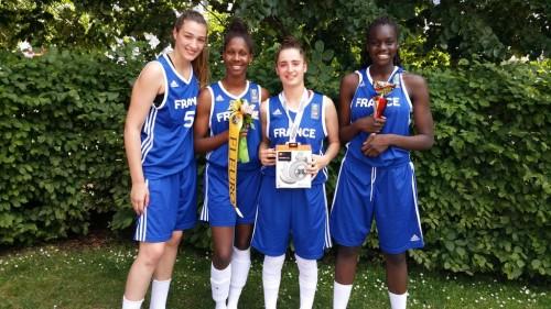 Mondial 3x3 U18 2015_Lisa BERKANI & équipe de France concours de meneuse_FIBA