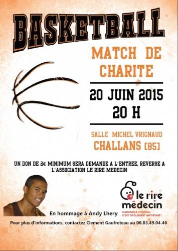 affiche match de Charité Challans 2015