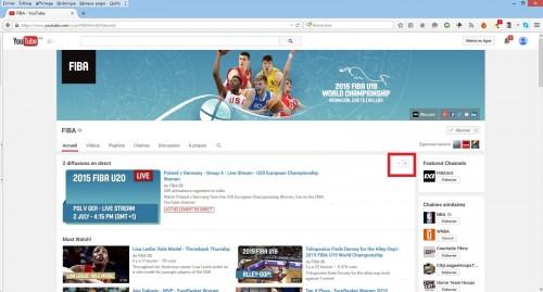 Capture YouTube FIBA pour Euro U20 2015