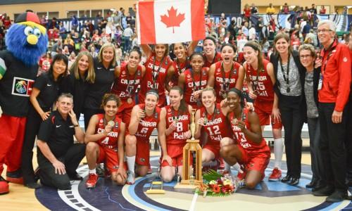 Canada champion des Amériques 2015 A.J. Lawrence/FIBA Americas
