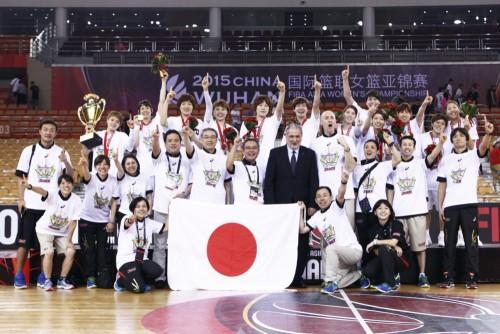 Asie 2015_Japon vainqueur_FIBA Asie