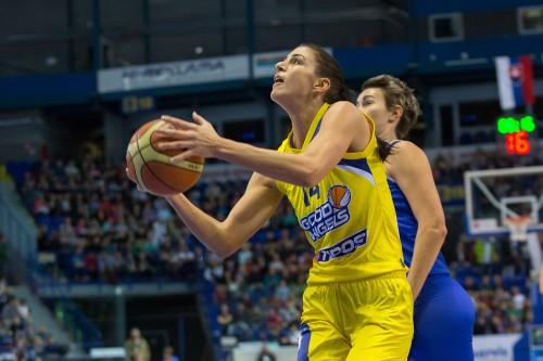 Euroligue_2014-2015_Tijana KRIVACEVIC (Kosice) vs. Montpellier_FIBA Europe_Lubomira ISTONOVA