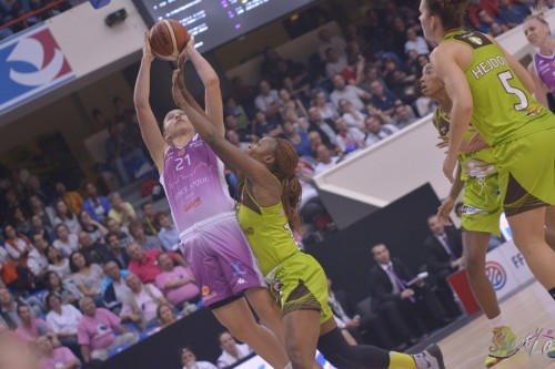 LFB_2015-2016_Sofija ALEKSANDRAVICIUS (Angers) 2 vs. Hainaut Basket_Laury MAHE