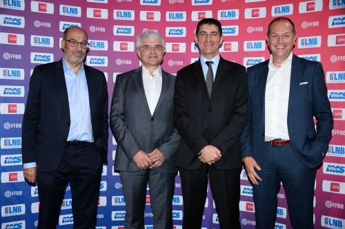 Nicolas Rotkoff (MCS), Alain Béral (LNB), Jean-Pierre Siutat (FFBB) et Eric Klipfel (SFR)_FFBB