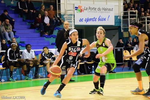 LFB_2015-2016_Hind BEN ABDELKADER (Nice) @Hainaut Basket 1_Thibaut LASSER