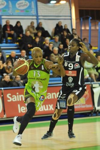 LFB_2015-2016_Pauline AKONGA (Hainaut Basket) vs. Nice_Daniel LEMOINE