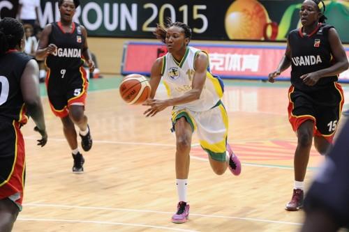 Afrobasket 2015_Géraldine ROBERT (Gabon) vs. Ouganda_FIBA