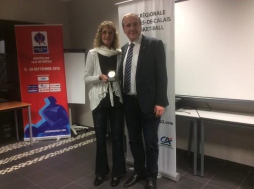 Nicole DE COLO médaille d'or FFBB_LR Nord-Pas de Calais
