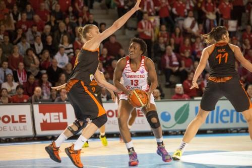 Eurocoupe_2015-2016_Fatimatou SACKO (Villeneuve d'Ascq) vs. Bourges_FIBA_Emmanuel ROUSSEL