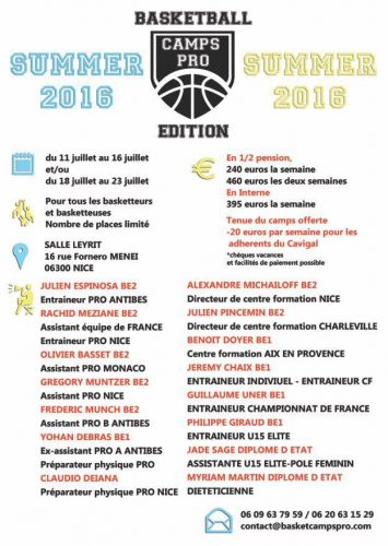Affiche Stage Nice 2016