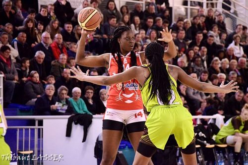 LFB_2015-2016_Christelle DIALLO (Lyon) @Hainaut Basket_Thibaut LASSER