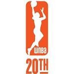 logo WNBA 20th mini carré
