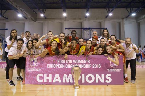 Les U16 espagnoles championnes d'europe 2016