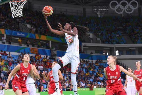 Rio 2016_Astou NDOUR (Espagne)_ vs. Serbie_FIBA