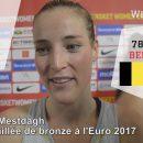 Euro 2017 : Réactions de Kim MESTDAGH après la médaille de bronze remportée par la Belgique